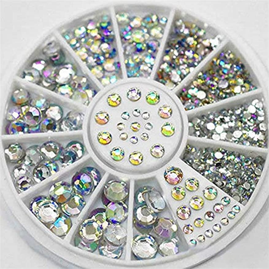 不健全セールパワーYan 5ピースdiyカラーアクリルダイヤモンドネイルアートホイールのヒントクリスタルグリッターラインストーン3dネイルアートの装飾