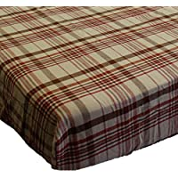Little MVP Plaid Toddler Fitted Crib Sheet by Store 51