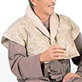 パジャマ屋 ペーズリー柄 あったか高級羽毛の肩当て(ダウン肩あて)【お誕生日プレゼント】/ソフトベージュ・フリーサイズ