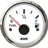 KUS 保証されたフューエルレベル ゲージ メーターインディケータ 燃料計 240-33ohm 52MM(2inches) バックライト付き 12V/24V