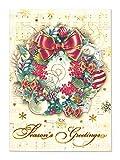パンチスタジオ 【クリスマス】 立体 グリーティングカード 封筒セット Lサイズ (リース×オーナメント×キャロル) 57765