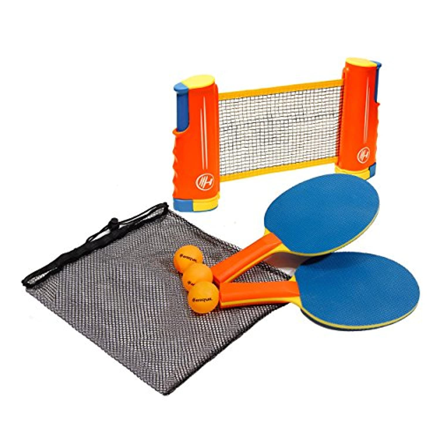 [ハービル]Harvil Portable and Retractable Table Tennis Net Set ToGo with FREE Balls, Rackets, and Mesh Bag RTTN-1 [並行輸入品]