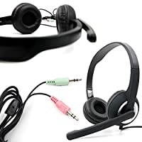"""DURAGADGET 3.5mm PC Stereo Headphones/Headset with Microphone for The Alienware M14x 14.1"""" Laptop [並行輸入品]"""