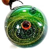 匠の技 神秘的な 宇宙 銀河 ガラス ネックレス ペンダント 太陽 惑星 メンズ レディース 003