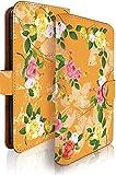 Nexus6P スペシャル エディション ケース 手帳型 水彩 ローズ オレンジ 花 バラ グーグル ネクサス スマホケース 携帯ケース 花柄 フラワー [水彩 ローズ オレンジ/t0395]