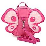 Sumnacon 迷子防止ひも リード付き 幼児 リュックサック リュックバッグ ハーネス 子供 ベビー ぬいぐるみ 可愛い胡蝶 (ピンク)