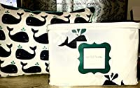 4-pc Whalesシートセット+ Whale枕シートセット–ツインサイズ
