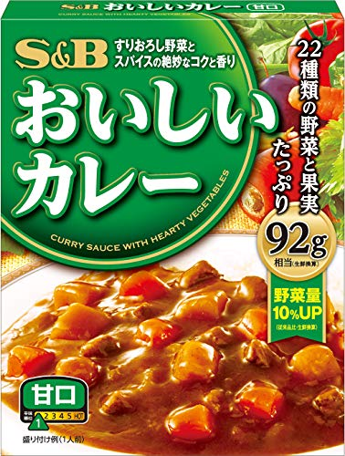 S&B なっとくのおいしいカレー甘口 180g