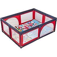 ベビーサークル, 赤ちゃんの遊び場のボールの安全な遊び場遊び場の赤ちゃんの遊び場携帯用の遊び場屋内の子供のゲームのフェンス (色 : Red)