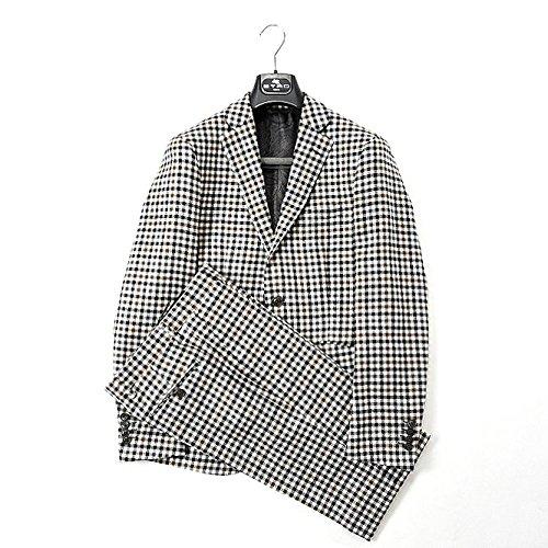 エトロ (ETRO) スーツ シングル2B ノータック チェック ウール 100% メンズ ブランド イタリア【並行輸入品】