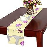 GGSXD テーブルランナー 面白い オレンジ色猫 クロス 食卓カバー 麻綿製 欧米 おしゃれ 16 Inch X 72 Inch (40cm X 182cm) キッチン ダイニング ホーム デコレーション モダン リビング 洗える