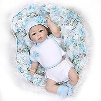 Nicery 生まれ変わった赤ちゃん人形ソフトハーフシミュレーションシリコンビニール20インチ50cm磁気口生きているような少年少女おもちゃギフト Reborn Baby Doll NPK50B001