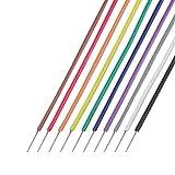 協和ハーモネット UL耐熱架橋ビニル電線 茶赤橙黄緑青紫灰白黒 各2m UL1429 AWG28 2m <10>