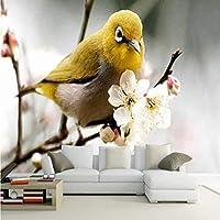 Xbwy カスタム写真の壁紙自然の風景カササギ雪梅リビングルームテレビバルコニーの背景装飾壁紙壁画-120X100Cm