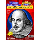 Forum Novelties Men's Heroes in History Instant Disguise Kit William Shakespeare