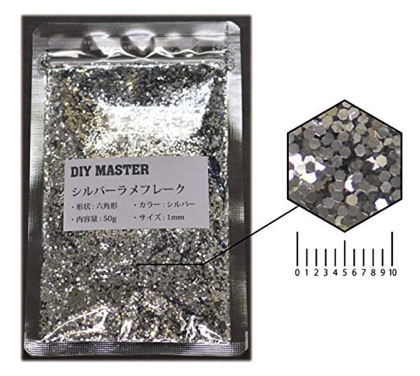私たちのもの評価する可能DIY MASTER シルバー ラメフレーク 1mm 50g