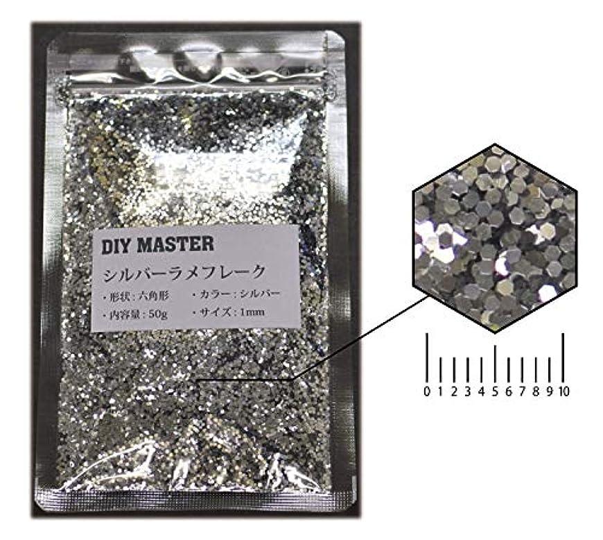 繊毛荒涼とした流行しているDIY MASTER シルバー ラメフレーク 1mm 50g