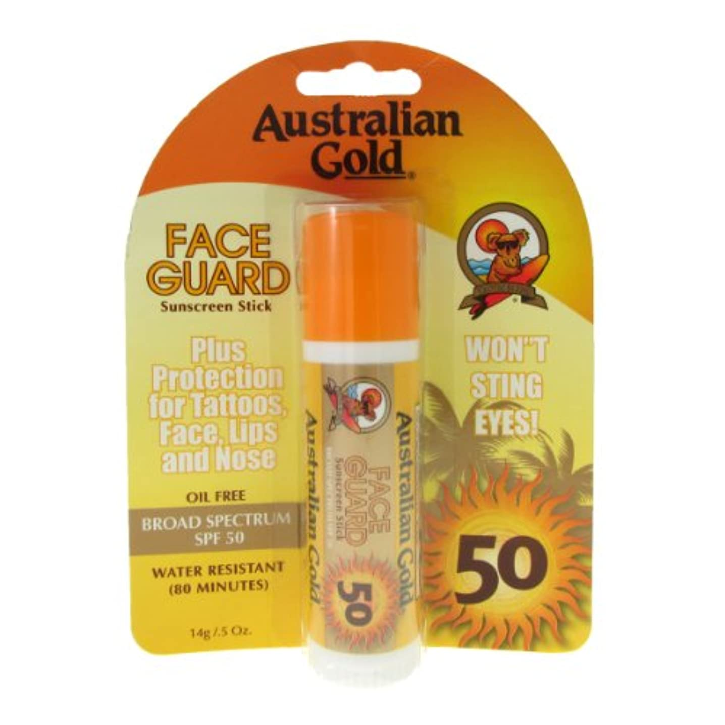 電極耐える逃すAustralian Gold Face Guard Spf50 Stick 14gr [並行輸入品]