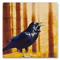 鳥–Bald Eagle、メンフクロウ、ホーク、Loon、ピーコック、Pileated、Raven in flight木製コースター