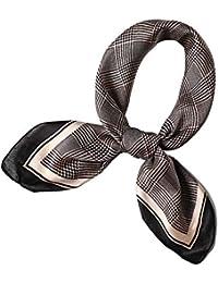 レディース洗えるシルクスクエアスカーフ-人気 流行 きれい色スカーフ バッグ 正方形 小物 大判 ストール-オフィスに適した、毎日、レジャー、休暇、写真、パーティー、贈り物