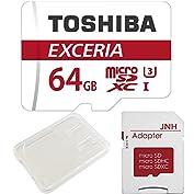 【3年保証】東芝 Toshiba 超高速U3 4K対応 microSDXC 64GB 専用SDアダプ...