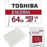 【3年保証】東芝 Toshiba 超高速U3 4K対応 microSDXC 64GB 専用SDアダプ付 [並行輸入品]