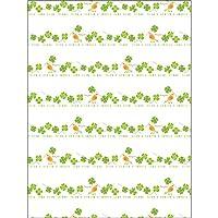 タカ印 ラッピングペーパー 49-2515 花柄 ボンジュール 全判 50枚