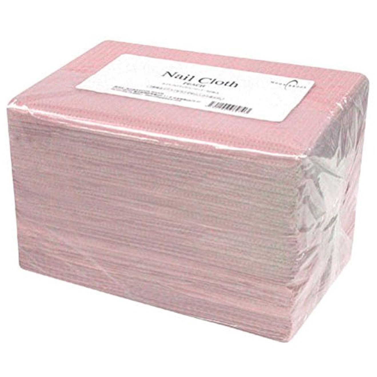 乳製品にぎやか物理Calgel ネイルクロス 50枚 ピーチ