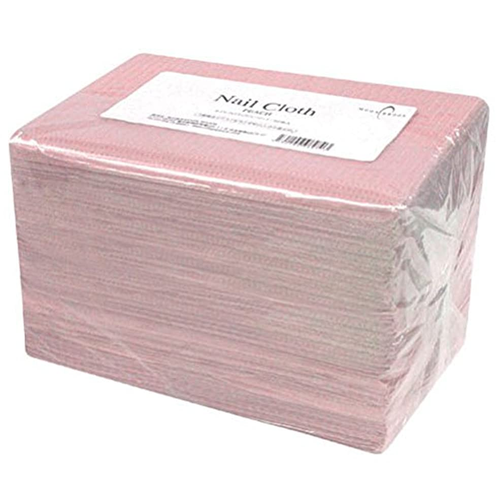 細菌ギャップ赤面Calgel ネイルクロス 50枚 ピーチ