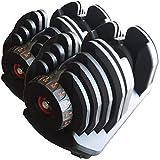 TOP FILM 可変式 ダンベル 40kg × 2個 アジャスタブルダンベル 5~40kg 17段階調節 ダイヤル 可変ダンベル トレーニング (80)