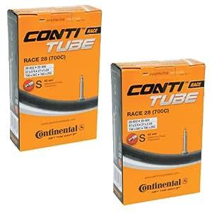 2本セット コンチネンタル(Continental) チューブ Race28 700×20-25C(仏式42mm)