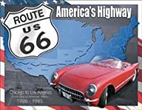 Route 66 - 1926 to 1985 Tin Sign by Poster Discount [並行輸入品]