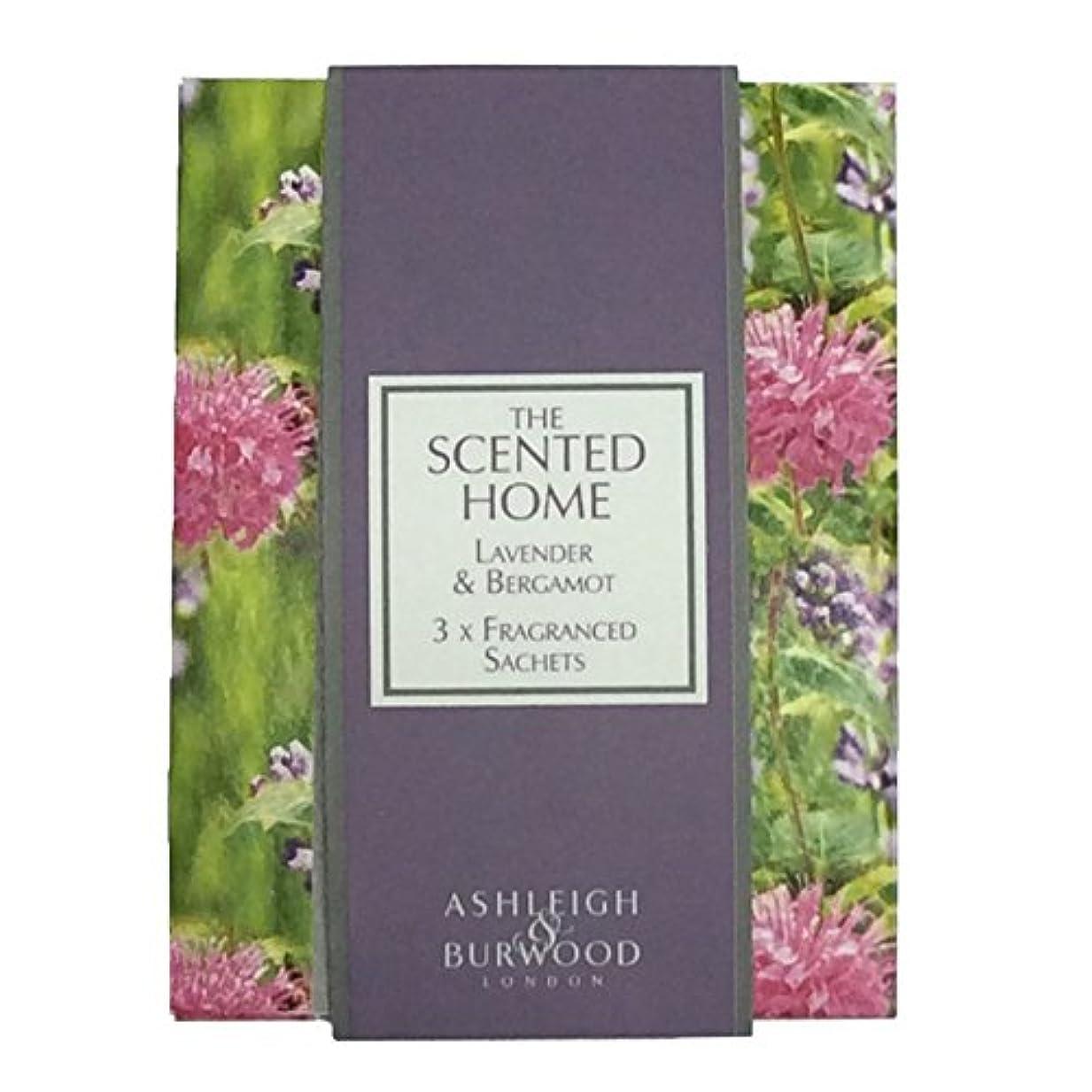 運命的な後ろに資源Ashleigh&Burwood サシェ×3個 ラベンダー&ベルガモット Sachet×3 Lavender&Bergamot アシュレイ&バーウッド