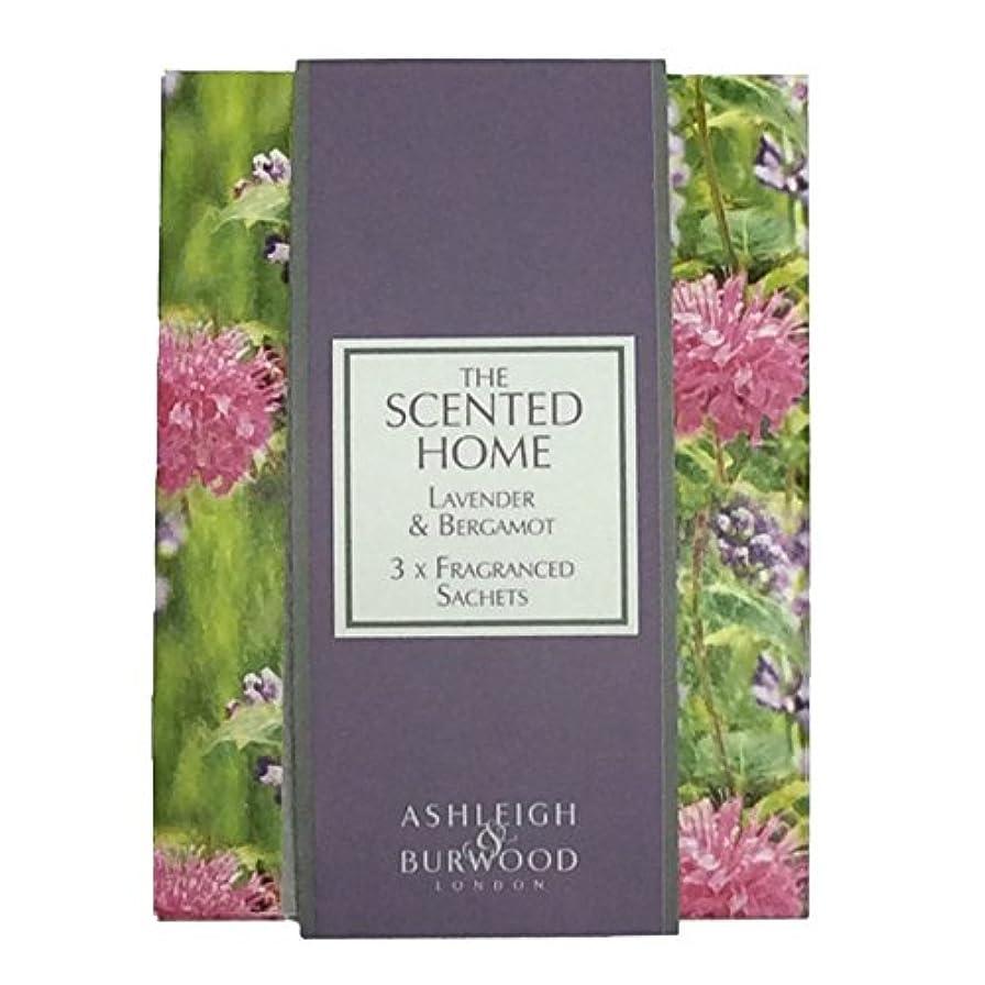 クリーム険しい寛大さAshleigh&Burwood サシェ×3個 ラベンダー&ベルガモット Sachet×3 Lavender&Bergamot アシュレイ&バーウッド