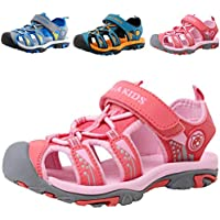 DADAWEN Boy's Girl's Summer Beach Outdoor Closed-Toe Sport Sandals (Toddler/Little Kid/Big Kid)