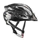 Uzexon 自転車 ヘルメット 超軽量 サイクリングヘルメット 18穴通気 アジャスター サイズ調整可能 大人子供兼用 (ブラック)