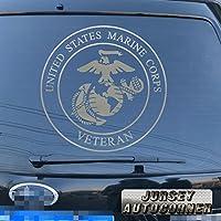 3s MOTORLINE USMC VeteranデカールステッカーRetired United States Marine Corps車ビニールPickサイズカラーDie Cut A 8'' (20.3cm) ブラック 20180326s4