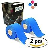 2巻入 テーピングテープ キネシオ テープ 筋肉・関節をサポート 伸縮性強い 汗に強い パフォーマンスを高める 5cm x 5m (?い)