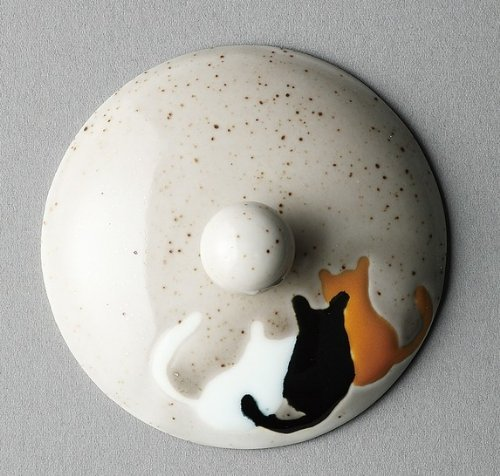 スーパーステンレス茶こし付きポット耐熱ガラス製 ネコ柄73608 [波佐見焼/有田焼/食器/猫柄/cat/ネコ/ティーポット/キッチン/焼き物/衛生的]