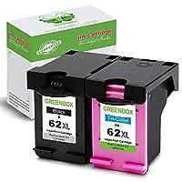 GreenBox 2パックリサイクル62x lインクカートリッジHP 62X L HP 62XL for HP Envy 15- 76405660554056405643Officejet 574057435745Officejet 200250モバイルプリンタ