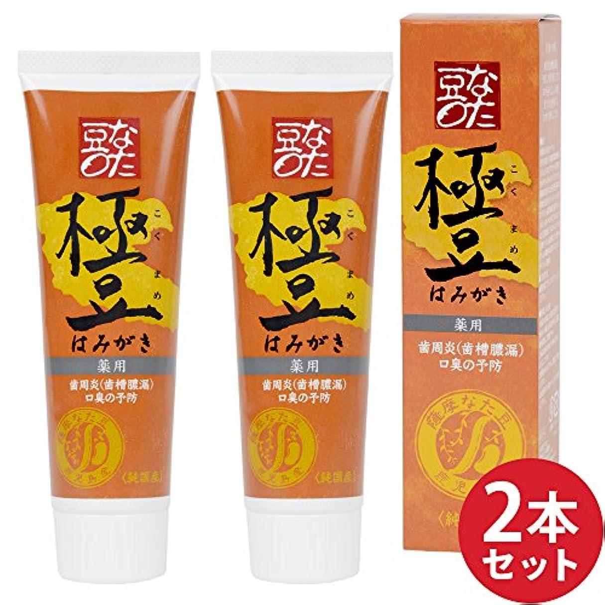 衝突コースパイプ伝導2本セット【薬用】薩摩なた豆歯磨き(内容量:110g×2)