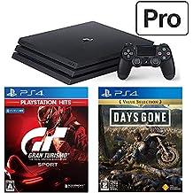 PlayStation 4 Pro + グランツーリスモSPORT + Days Gone セット (ジェット・ブラック) (CUH-7200BB01)【特典】オリジナルカスタムテーマ(配信)