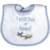 Raindrops I Still Live At Home Embroidered Bib, Blue by Raindrops