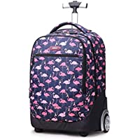 RMXMY Children's Trolley Bag Primary School Male and Female Drawbar Flower Bag Dual-use Backpack Travel Bag Out Portable Trolley Luggage Multi-Function Backpack (Multi-Color Optional) (Color : E)