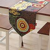 テーブルランナーコットン南東アジア系アメリカンエスニックスタイルフェスティバルパーティーホームテーブルクロステーブルクロス幅:30cm ( パターン : A , サイズ さいず : 30*200センチメートル )