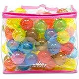 RiZKiZ カラーボール 7色 100個入り 直径7cm 【やわらかポリエチレン製】 (プール/ボールプール/ボールハウス用)