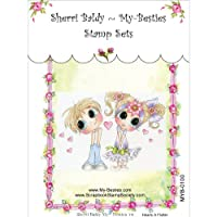 """My Besties Clear Stamps 4""""X6""""-Hearts A Flutter"""
