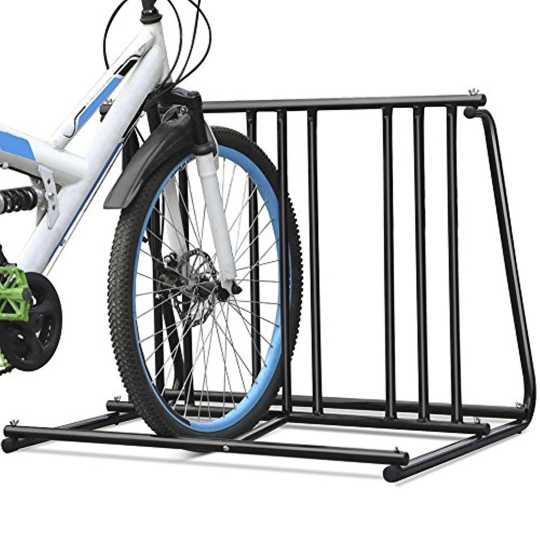 Hd Steel 1-6 Bikes Floor Mount Bicycle Park Storage Parking Rack Stand 2 3 4 5 by Brand New