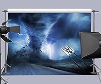 7X 5ft Highway Tornado写真バックドロップ背景写真小道具fuermor r458