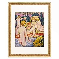 アウグスト・マッケ August Macke 「Four Bathers. 1910」 額装アート作品